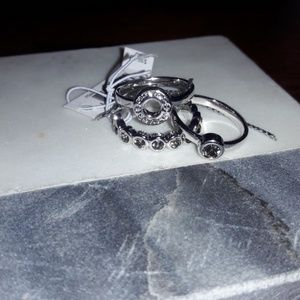 Nwt,  coach 3 stackable rings.